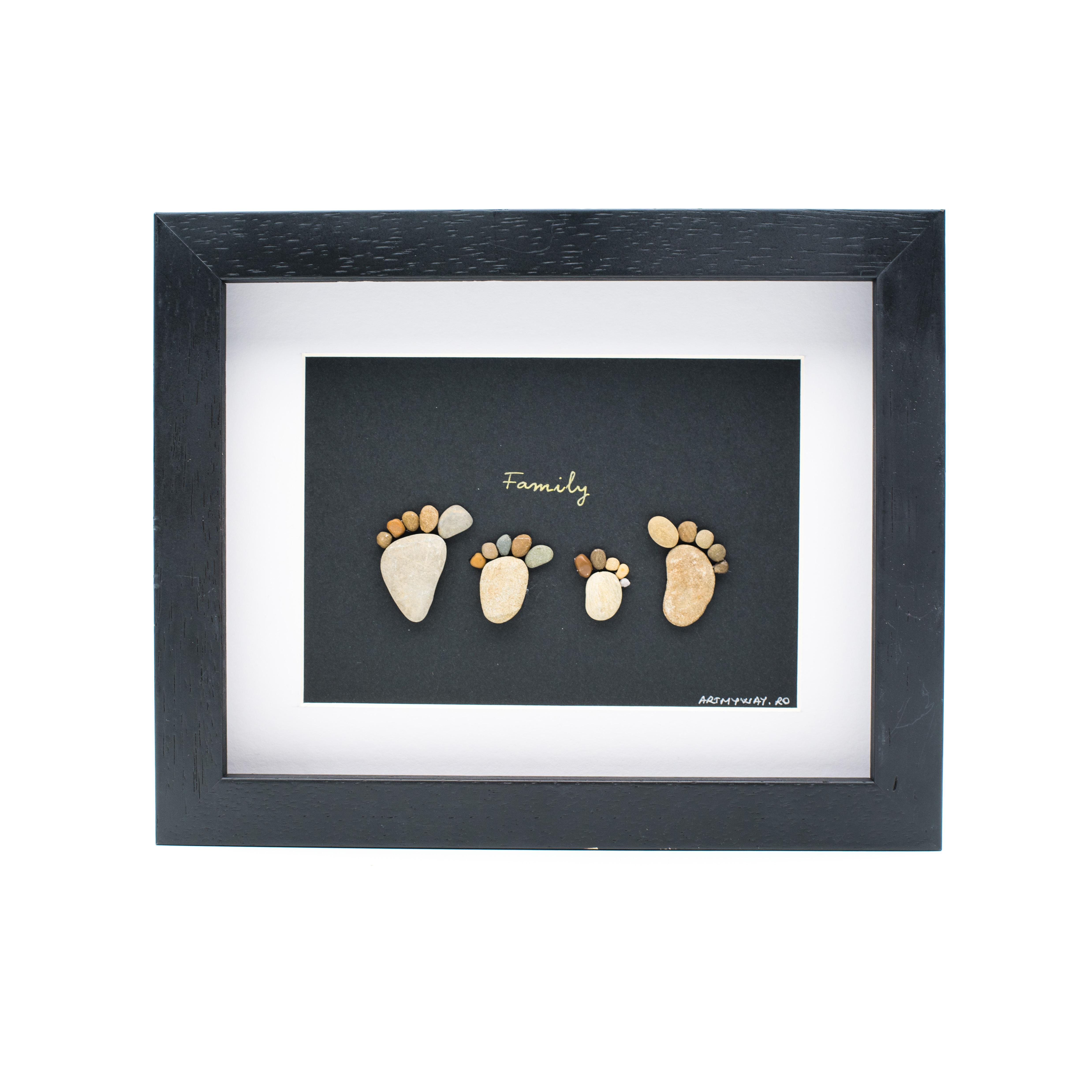 Tablou My Family 4- Colectia Pebble Art 0
