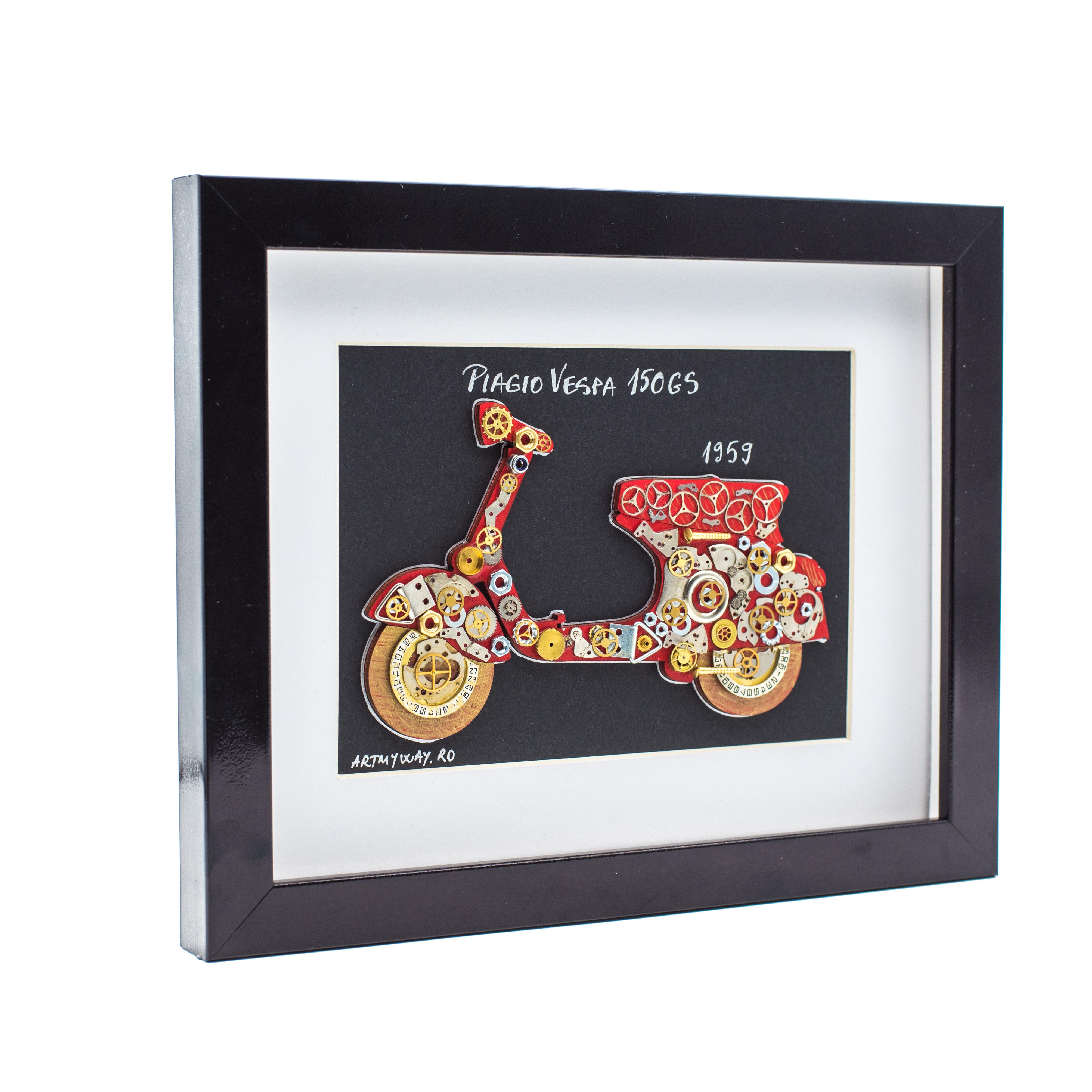 Tablou Piagio VESPA 150GS - Colectia Born to Ride2