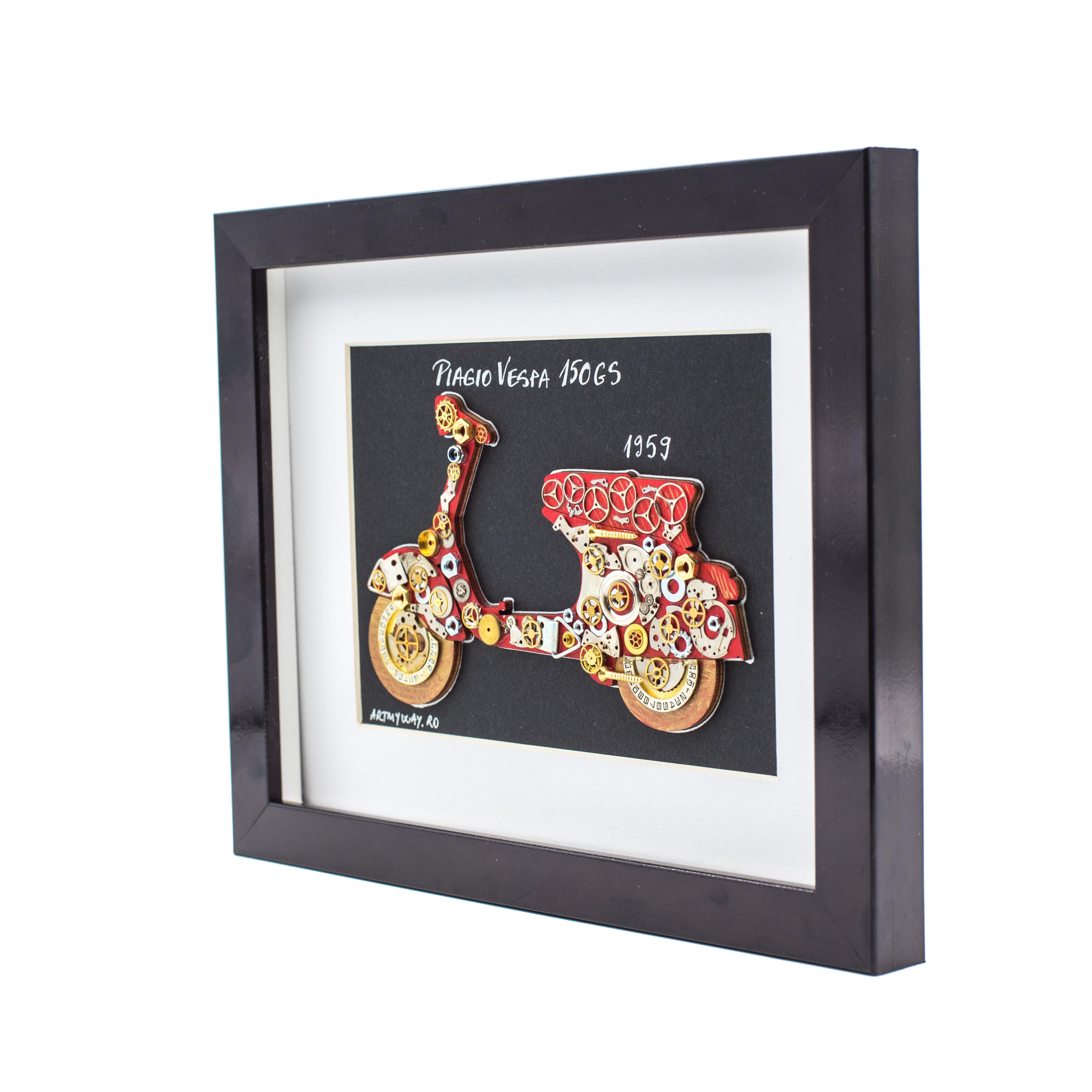 Tablou Piagio VESPA 150GS - Colectia Born to Ride1