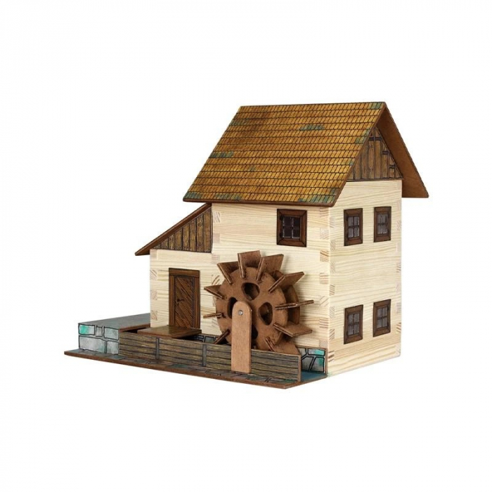 Set constructie arhitectura Moara de apa, 196 piese din lemn, Walachia 0