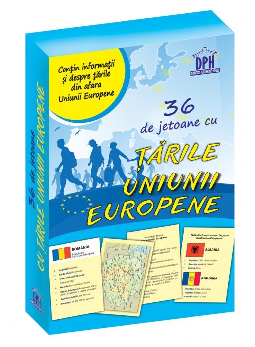 36 de jetoane cu tarile Uniunii Europene - Didactica Publishing House 0