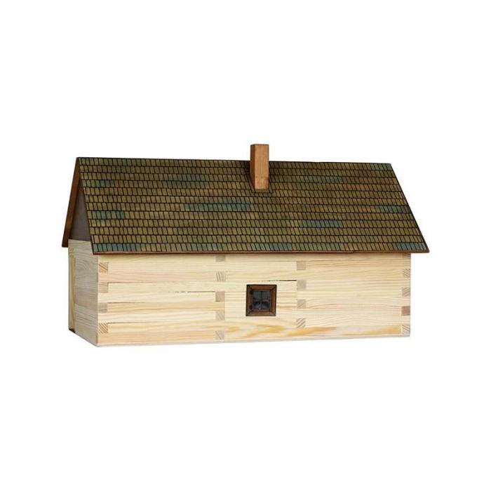 Set constructie arhitectura Casa de la tara, 174 piese din lemn, Walachia 1