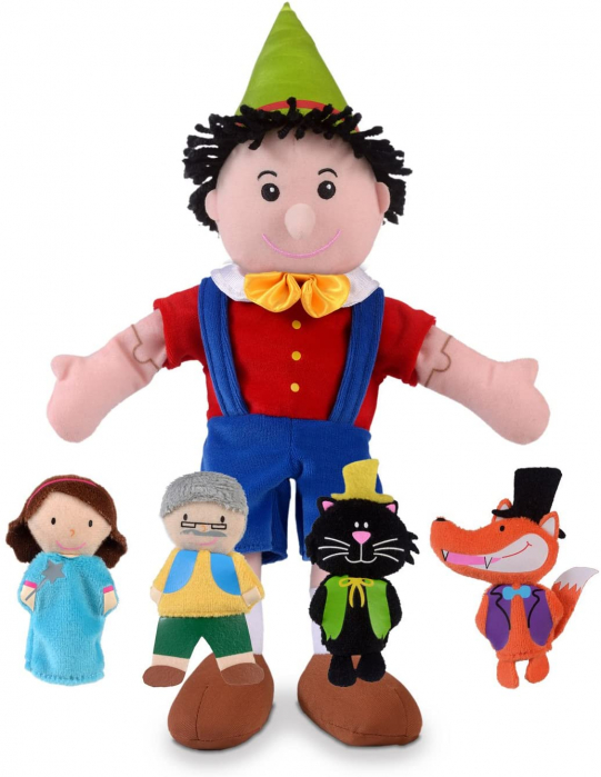 Set papusa si marionete - Pinochio / Pinocchio hand and finger puppet set 0