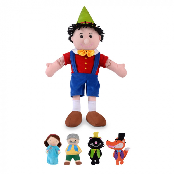 Set papusa si marionete - Pinochio / Pinocchio hand and finger puppet set 1