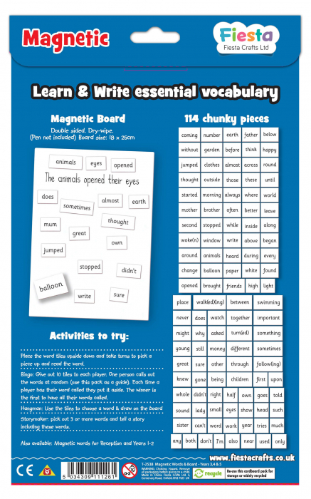 Activitati cu litere magnetice pentru avansati / Magnetic words & board for year 3,4 & 5 2