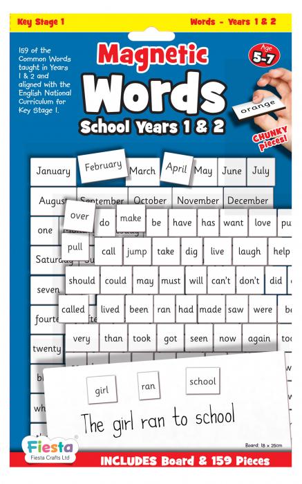 Activitati cu litere magnetice pentru incepatori / Magnetic words Board for year 1-2 0