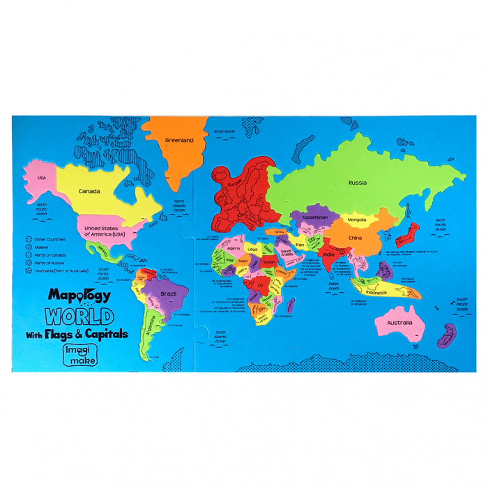Cadou 8-14 ANI - Puzzle Harta lumii cu steaguri si capitale + Constructie Circuite Integrate [5]