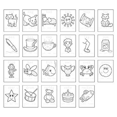 Carte de colorat cu abtibilduri Primele cuvinte / FIRST WORDS 4