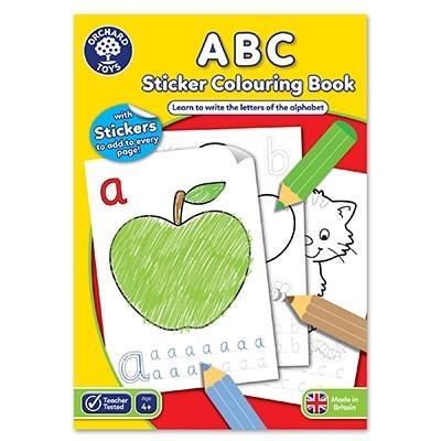 Carte de colorat cu activitati in limba engleza si abtibilduri ABC 0