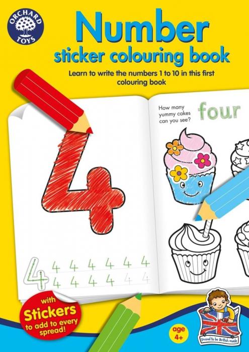 Carte de colorat cu activitati Invata numerele / NUMBER 0