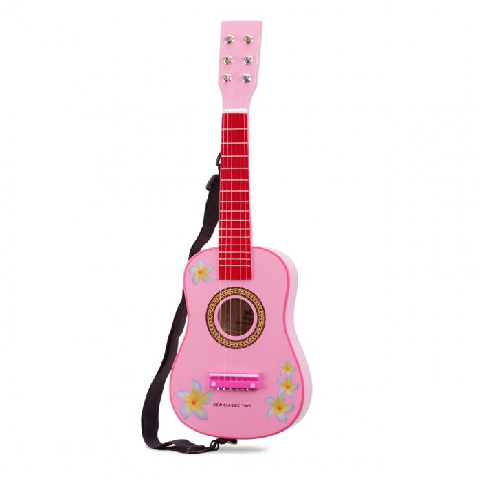 Chitara roz cu flori [1]