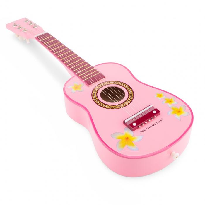 Chitara roz cu flori [0]