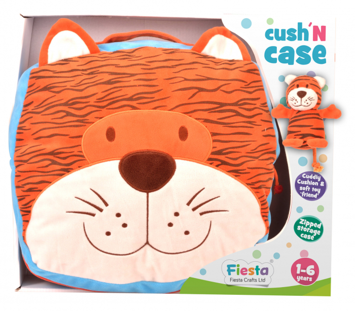 Gentuta multifunctionala Tigru / Tiger Cush N Case - Fiesta Crafts 0