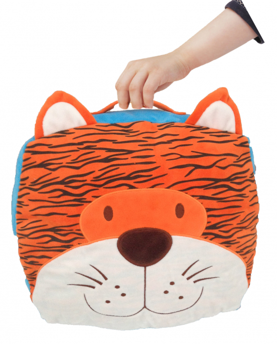 Gentuta multifunctionala Tigru / Tiger Cush N Case - Fiesta Crafts 3