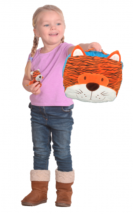 Gentuta multifunctionala Tigru / Tiger Cush N Case - Fiesta Crafts 4