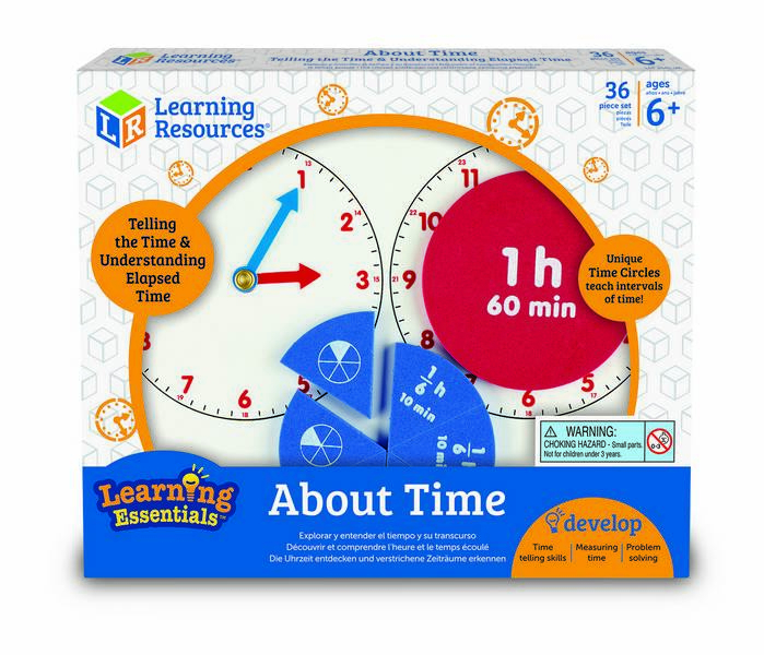 Invatam timpul si fractiile - joc educativ Learning Resources 0