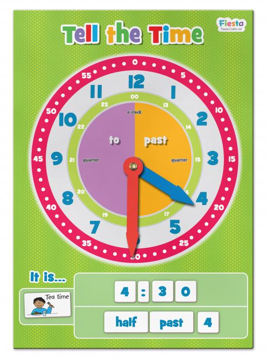 Joc educativ Cat e ceasul? / Tell the time Fiesta Crafts 4