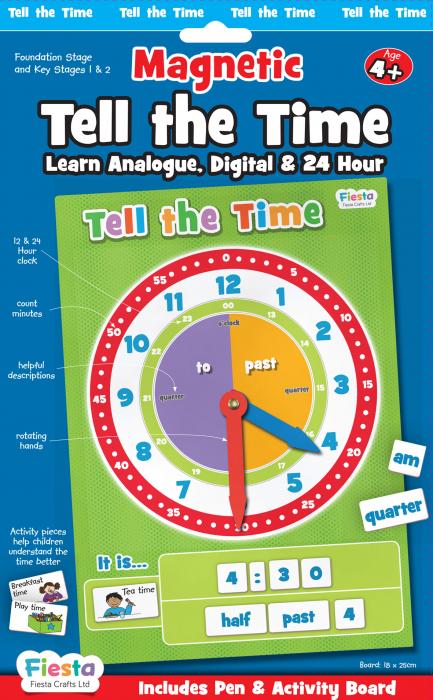 Joc educativ Cat e ceasul? / Tell the time Fiesta Crafts 0
