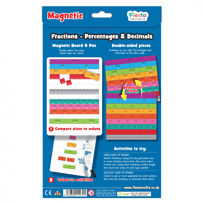 Joc educativ Fractii / Fractions Fiesta Crafts 1