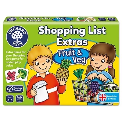Joc educativ in limba engleza Lista de cumparaturi Fructe si legume 2