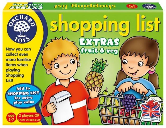 Joc educativ in limba engleza Lista de cumparaturi Fructe si legume 0