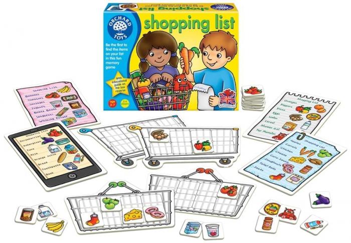 Joc educativ in limba engleza Lista de cumparaturi SHOPPING LIST 1