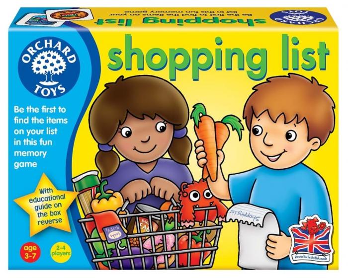 Joc educativ in limba engleza Lista de cumparaturi SHOPPING LIST 0