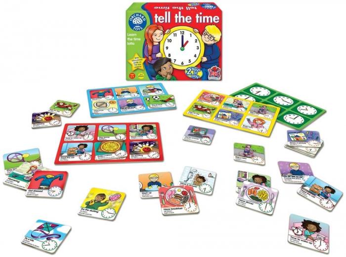Joc educativ loto in limba engleza Citeste ceasul TELL THE TIME 1