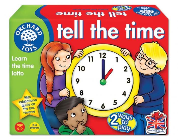 Joc educativ loto in limba engleza Citeste ceasul TELL THE TIME 0