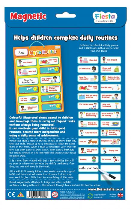 Joc educativ Organizator de activitati / My to do list - Fiesta Crafts 4