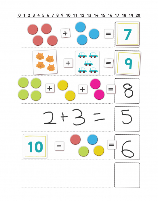 Joc educativ Primele notiuni de matematica / First Maths - Fiesta Crafts 1
