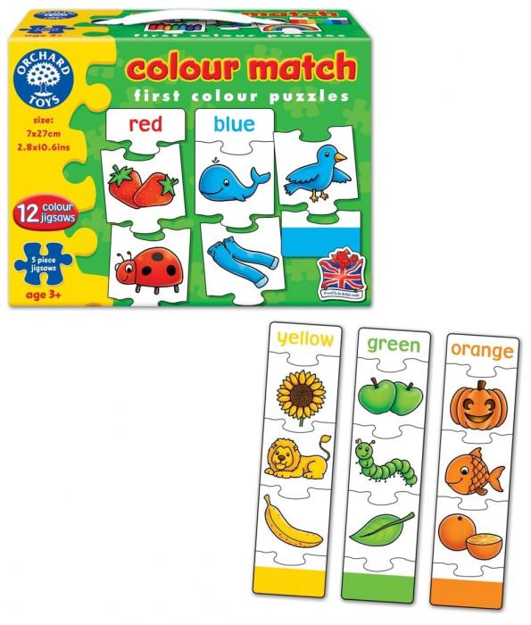 Joc educativ - puzzle in limba engleza Invata culorile prin asociere COLOUR MATCH 2