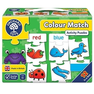 Joc educativ - puzzle in limba engleza Invata culorile prin asociere COLOUR MATCH 3