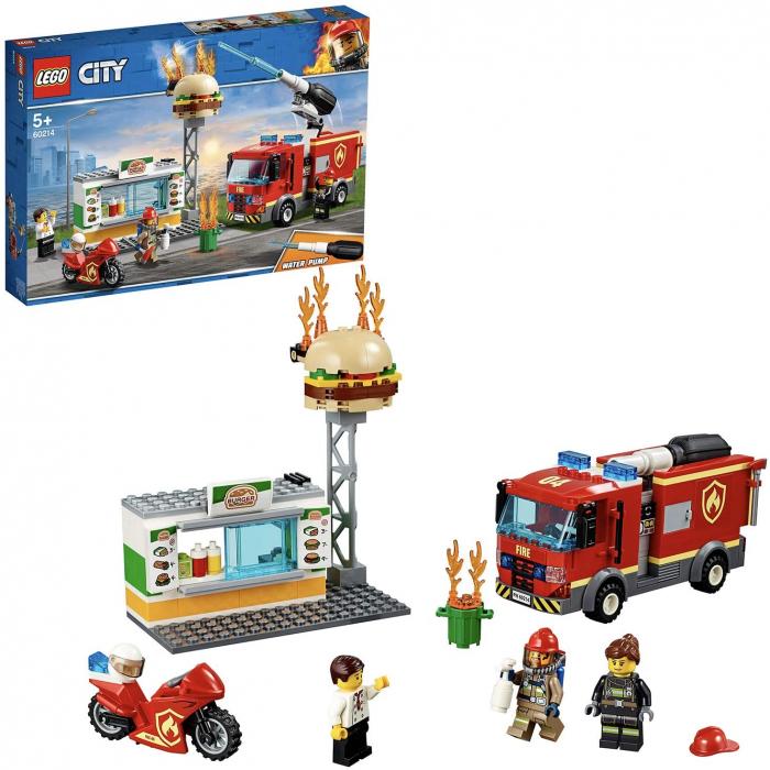 LEGO CITY STINGEREA INCENDIUL DE LA BURGER BAR 60214 [3]
