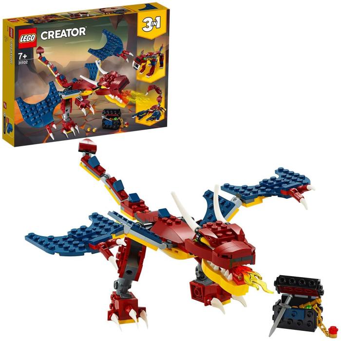 LEGO CREATOR DRAGON DE FOC 31102 [6]