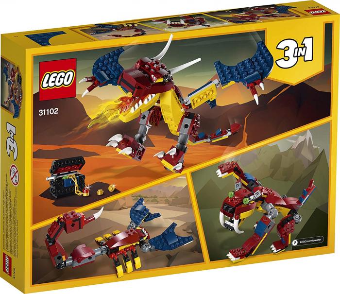 LEGO CREATOR DRAGON DE FOC 31102 [8]