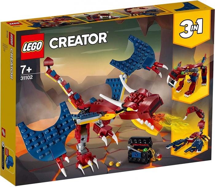LEGO CREATOR DRAGON DE FOC 31102 [0]