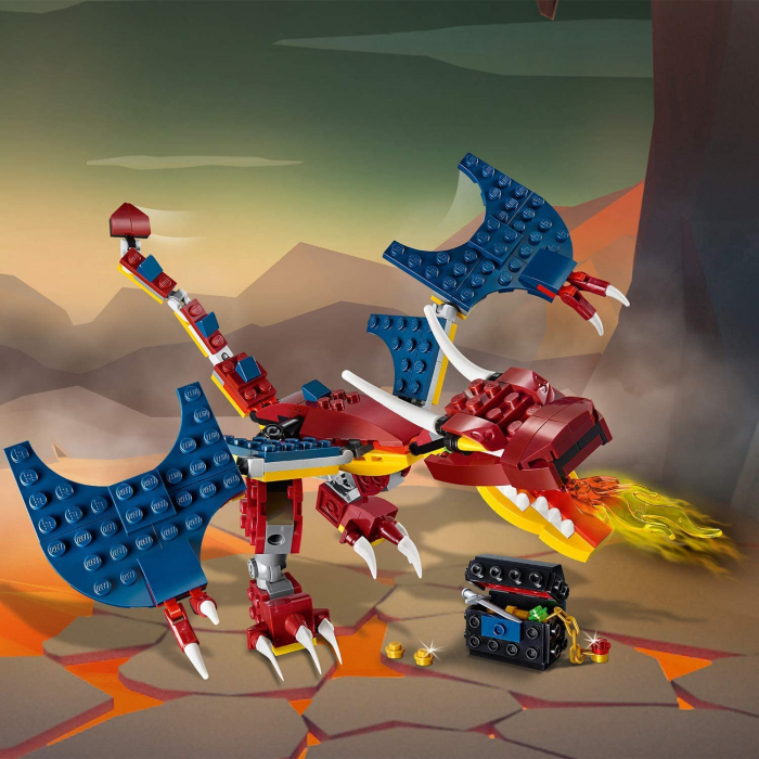 LEGO CREATOR DRAGON DE FOC 31102 [7]