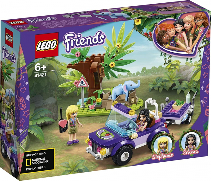 LEGO FRIENDS  SALVAREA PUIULUI DE ELEFANT DIN JUNGLA 41421 [0]