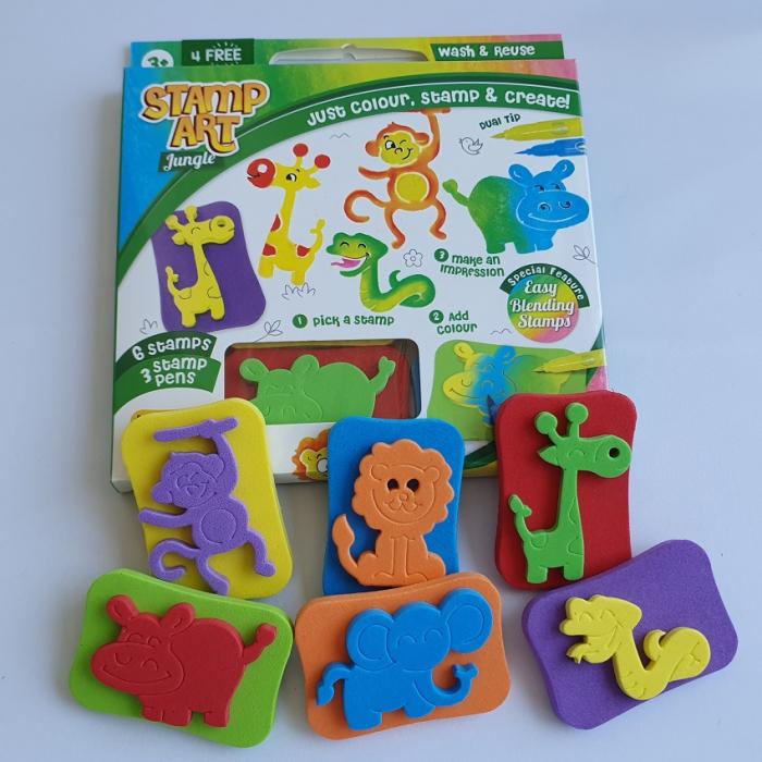 Set creativ cu stampile - Jungle 2