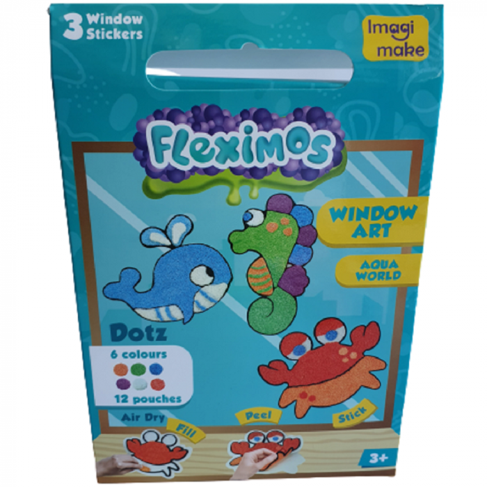 Set creativ stickere pentru fereastra – Aqua World 0