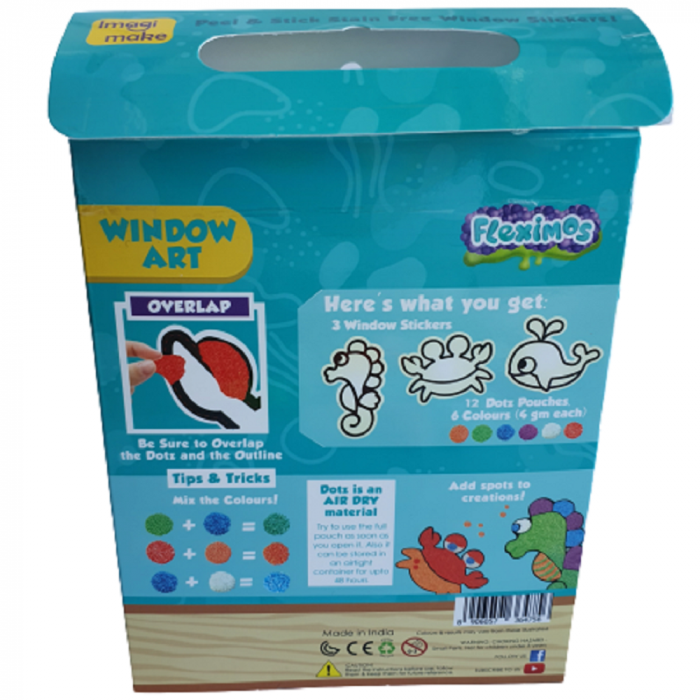 Set creativ stickere pentru fereastra – Aqua World 3