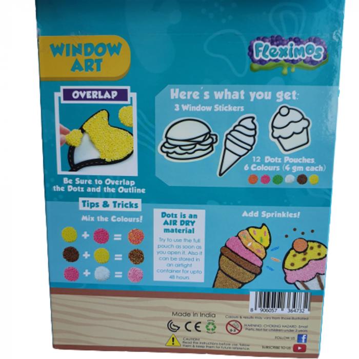 Set creativ stickere pentru fereastra – Yummy Treats 4