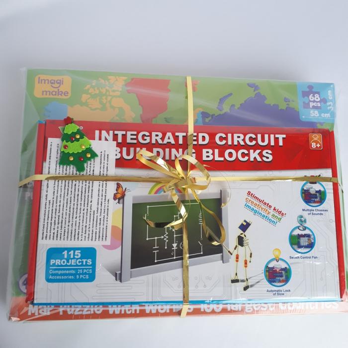 Cadou 8-14 ANI - Puzzle Harta lumii + Constructie Circuite Integrate 1