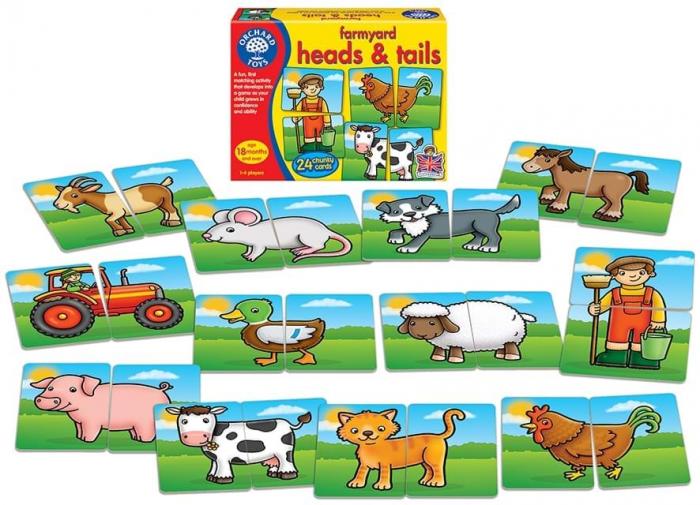 Prietenii de la ferma / FARMYARD HEADS & TAILS 1