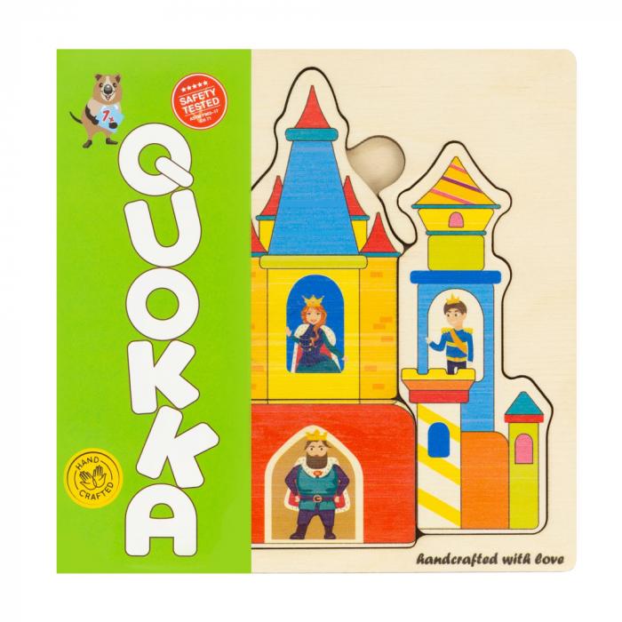 """Puzzle """"Castelul"""" - jucarie educativa Quokka 0"""