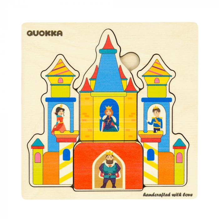 """Puzzle """"Castelul"""" - jucarie educativa Quokka 1"""