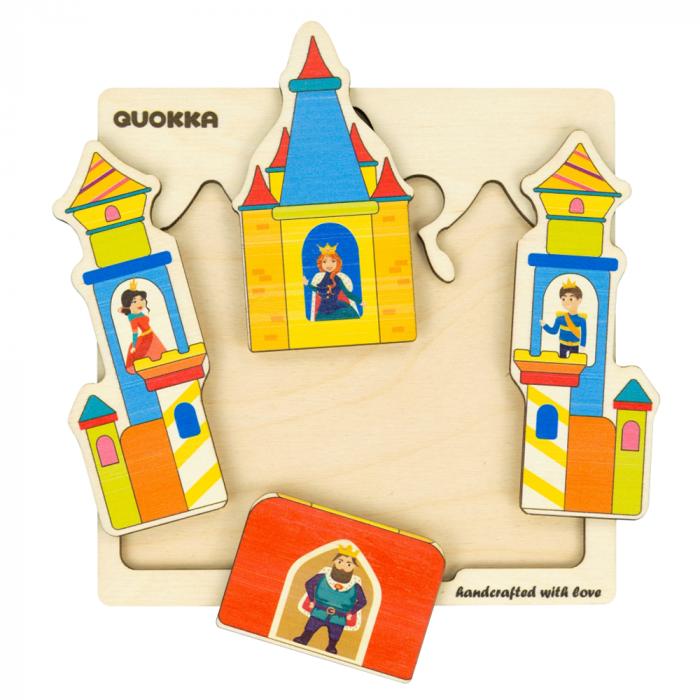 """Puzzle """"Castelul"""" - jucarie educativa Quokka 2"""