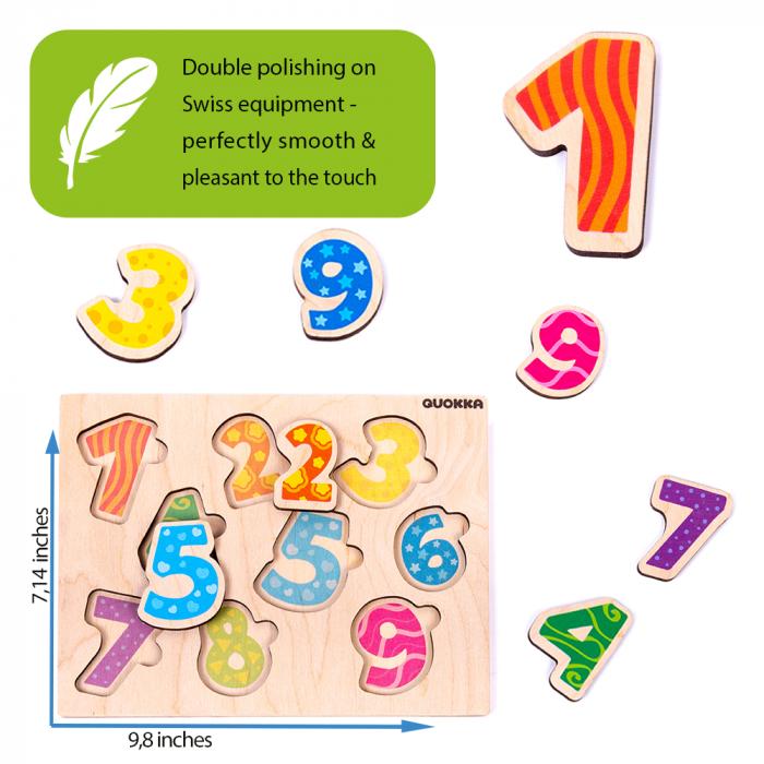 Puzzle Cifre - jucarie educativa Quokka [3]