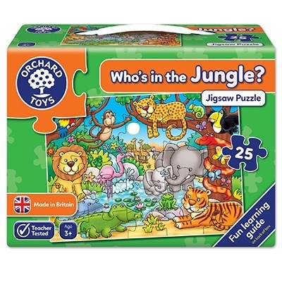 Puzzle cu activitati Cine este in jungla? WHO'S IN THE JUNGLE? 0
